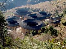 De tulou-Speciale architectuur van Fujian van China Royalty-vrije Stock Foto's