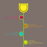 De Tulp van de Bloem van de Grafiek van de Stroom van Infographic Royalty-vrije Stock Foto's