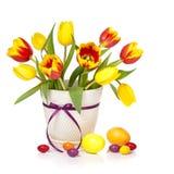 De tulpenbloemen van Pasen Royalty-vrije Stock Afbeeldingen