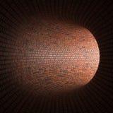 De tunnel of de riolering, het licht aan het eind van de tunnel Royalty-vrije Stock Afbeelding