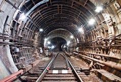 De Tunnel NYC van de metro Kiev, de Oekraïne Kyiv, de Oekraïne Stock Foto