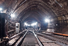 De Tunnel NYC van de metro Kiev, de Oekraïne Kyiv, de Oekraïne Stock Afbeelding