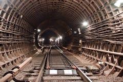 De Tunnel NYC van de metro Kiev, de Oekraïne Kyiv, de Oekraïne Stock Foto's