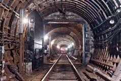 De Tunnel NYC van de metro Kiev, de Oekraïne Kyiv, de Oekraïne Stock Fotografie