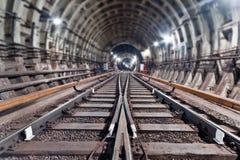 De Tunnel NYC van de metro Kiev, de Oekraïne Kyiv, de Oekraïne Royalty-vrije Stock Afbeelding