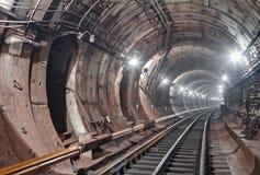 De Tunnel NYC van de metro Kiev, de Oekraïne Kyiv, de Oekraïne Stock Afbeeldingen