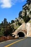 De tunnel van de berg stock afbeelding