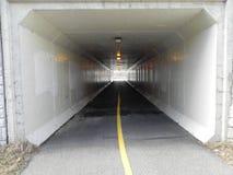 De Tunnel van de fietsweg Royalty-vrije Stock Foto's