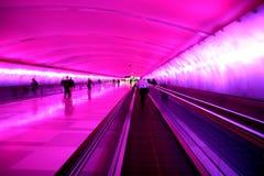 De tunnel van de luchthaven Stock Fotografie