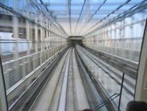 De tunnel van de metro met motie fx stock foto