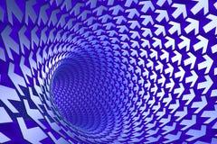 De tunnel van de pijl Royalty-vrije Stock Foto's