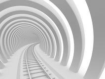 De tunnel van de spoorweg Stock Foto's