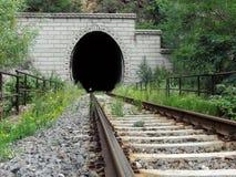 De tunnel van de spoorweg Stock Foto