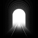 De tunnel van de spoorweg. Vector. royalty-vrije illustratie