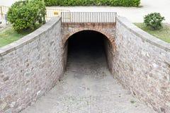 De tunnel van de steen Royalty-vrije Stock Afbeeldingen