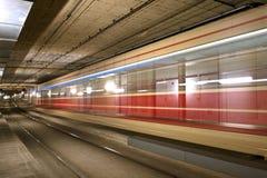 De tunnel van de tram stock foto