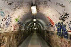 De tunnel van Graffiti Royalty-vrije Stock Foto