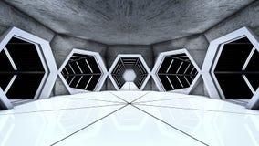 De tunnels van de ruimtestationgang Royalty-vrije Stock Afbeeldingen