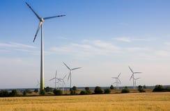 De turbine alternatieve energie van de wind Stock Afbeelding