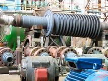 De turbine van de de generatorstoom van de macht tijdens reparatie stock foto