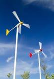 De turbine van de paarwind Royalty-vrije Stock Afbeelding