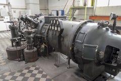 De turbine van de stoom Stock Foto's