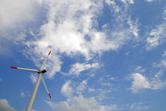 De turbine van de wind Stock Foto