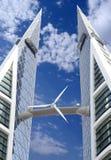 De turbine van de wind, een vernieuwbare energiebron. Royalty-vrije Stock Fotografie
