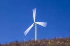 De turbine van de windenergie Stock Afbeelding