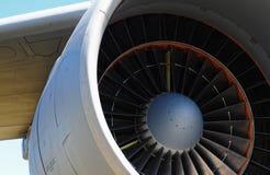 De turbinebladen van de straalmotor Stock Afbeelding