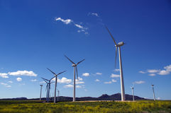 De turbinegebied van de wind royalty-vrije stock afbeelding