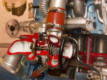 De turbineknipsel van de motor Stock Afbeeldingen