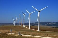 De turbinelandbouwbedrijf van de wind Stock Foto's