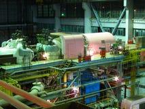 De turbinemachines van de stoom, pijpen, buizen Royalty-vrije Stock Foto