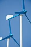 De turbinemacht van de wind Stock Foto