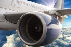 De turbinemotor van het vliegtuig Stock Fotografie