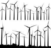 De turbines van de wind