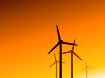 De turbines van de wind Royalty-vrije Stock Foto's