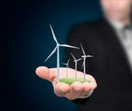 De turbines van de wind. Royalty-vrije Stock Foto