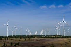De turbines van de wind Stock Afbeeldingen