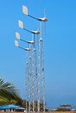 De turbines van de wind in aanbouw. Royalty-vrije Stock Foto's