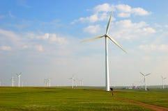 De turbines van de wind in Noord-China stock foto