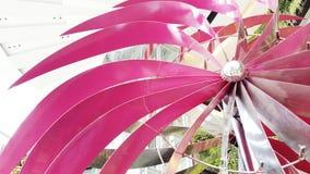 De turbines van de wind op groen gebied Stock Foto