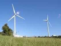 De turbines van de wind in platteland Royalty-vrije Stock Afbeelding