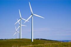 De Turbines van de Wind van de Heuvel van de zeester Royalty-vrije Stock Foto