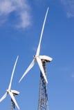 De turbines van de wind voor schone energie Royalty-vrije Stock Afbeeldingen