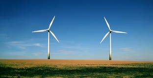 De turbineslandbouwbedrijf van de wind Stock Fotografie
