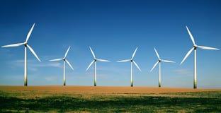 De turbineslandbouwbedrijf van de wind Royalty-vrije Stock Foto