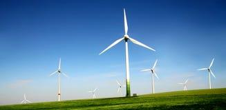 De turbineslandbouwbedrijf van de wind Royalty-vrije Stock Afbeelding