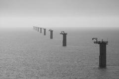 De turbinestichtingen van de wind Royalty-vrije Stock Foto